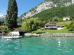 5 Star waterfront villa for 8 people lake Annecy