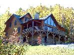 5 Bedroom Upscale Mountain Log Home Great Views in Gated Preserve With Game Room and Hot Tub