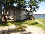 Wolf Lake, Muskegon , MI 2 bedroom Lakefront Home