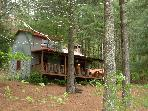 Quaint & Cozy Authentic Log Cabin Just Off Parkway