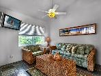 2 bedroom, 2 bath upscale bungalow in an oceanfront estate