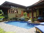 Exquisite home 50m to beach, pool, grill, lush gardens, WiFi, sleeps 5-10