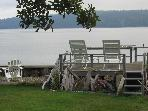 The Boat House on Camano Island at the waters edge