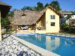 Caribbean style 2 bedroom villa with pool