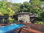 Rainforest Villa, sleeps 13, sea views, pool