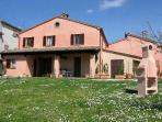 villa with large  panoramic garden near Urbino