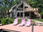 Delightful Waterfront Contemporary Vacation Rental on Lake Winni (BAR23W)