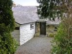 CONIFERS COTTAGE, pet friendly, character holiday cottage, with a garden in Talhenbont Hall Country Estate, Ref 380