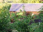 THE CABIN AT NORTH LODGE, romantic, country holiday cottage, with shared use of hot tub in Canonbie, Ref 4464