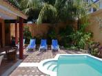 Spacious 3 story home, 4 bdrms, charming Mexican decor, private pool & garden