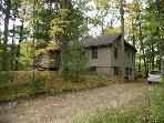 Lake home,4Bd,2Bth,Irons,Mi.sleeps10,Wooded,Quiet!