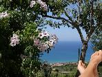 SICILY COUNTRY COTTAGE OVERLOOKING CEFALU' S BAY .