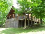 Mtn. Cabin on 1.5 Ac. Fishing Pond Access, Wifi