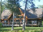 Year round Lakefront Log Home near Mackinaw Island