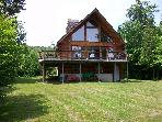 3 bedroom Lakefront Log Chalet, Rangeley Maine