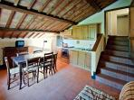Apartment Il Pioppo in medieval village with pool