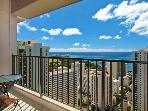 Waikiki Banyan #3810 T-2 - Sweeping ocean views from penthouse-level one-bedroom with AC! Sleeps 5.