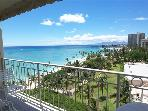 Waikiki Shore #1010 - Beachfront 1-bedroom, full kitchen, washer/dryer, A/C, WiFi, sleeps 4.
