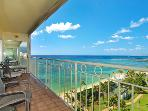 Waikiki Shore #1412 - Beachfront 1-bedroom, full kitchen, washer/dryer, A/C, WiFi, sleeps 4.