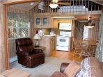 Modern 1 BR with Sleeping Loft Cabin on the Taylor River at Three Rivers Resort in Almont (#64)