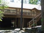 "Lovely Twain Harte ""original""- deck, wooded view, pets ok, BBQ, woodstove"