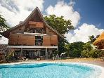 Luxury beachfront villa on La Digue, Seychelles
