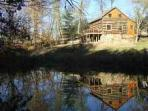 1800's Luxury Log Cabin Near Hocking Hills!