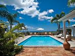 JACARANDA ...  affordable family villa with georgous views of Baie Longe!
