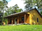 2 bedroom log cabin nestled in northern Vermont