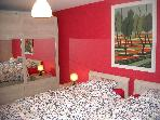 2 bedroom apartment 4/6 people at center of Bruges
