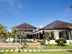 Luxury Beachfront Villa with Tennis Court, Helipad & Boat