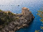 A magnificent Tower on the sea of Amalfi Coast