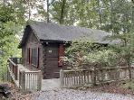 BULLWINKLE`S BUNGALOW*COZY TWO BEDROOM~ONE BATH CABIN WITH GREAT MOUNTAIN VIEWS~GAS GRILL~WIFI~SCREENED PORCH WITH PRIVATE HOT TUB~GAS LOG FIREPLACE~PET FRIENDLY~ONLY $99/NIGHT!