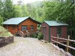 TUCKED AWAY- 2BR/1BA WOODED CABIN~ CLOSE TO TOWN~ WOODBURNING FIREPLACE~ CABLE TV~PET FRIENDLY~ ONLY $85/NIGHT!