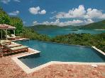 Luxury 4 bedroom St. John villa. Beautiful North Shore Views!