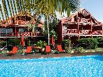 PALM COURT HOTEL...ORIENT BEACH FRENCH ST MARTIN,..LOVELY INTIMATE MORRICAN STYLE HOTEL