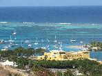 Overlooking Christiansted Harbor &amp; Fort Christian