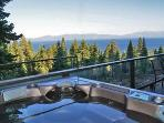 Lake Tahoe View home w/hot tub-sleeps 10!