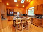 Lakefront Home. 5bd, 2.5ba, Hot tub, Private Beach, Wi-Fi, A/C, Xbox,Slps 14!