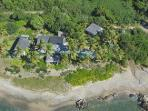Beachfront Full Circle with three private pavilions, pool, jacuzzi & daily maid
