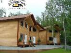 """Alaska Adventure Chalets"" creekside luxury cabins"