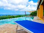 Vieques Ocean View studio for 2, in Vieques, with pool, outdoor SPA, surrounded by spectacular views and a natural park