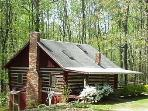 Cozy Log Cabin-- Your Private 8 Acre Retreat