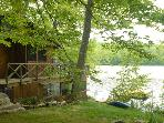 Cozy lakeside cottage just feet from water's edge