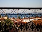 Stunning views over Alfama roofs and Tagus river