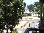 Rambla next to the beach