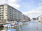 Copenhagen apartment with balcony overlooking the canal