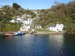 Fowey River Views -2 bedrooms -on the waters edge