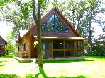 Exceptional Log Cabin on the Premier East Shore of Gull Lake in Nisswa Minnesota