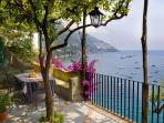 Villa Gaia terraces and sea view  in  Positano